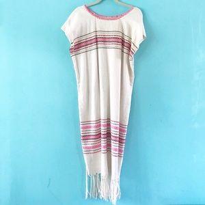 Dresses & Skirts - Boho Mexican sarape dress L